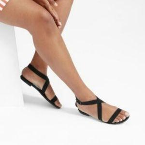 Everlane Modern Wrap Sandal Suede Leather Black 5